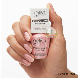 "Harmony Gelish UV Gel Polish Structure Gel ""COVER PINK"" 0.5oz **BRAND NEW**"
