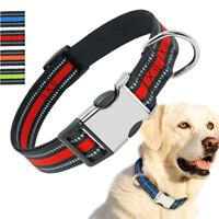 Reflective Strong Nylon Dog Collar Metal Buckle Dog Collar for Small Large Dogs