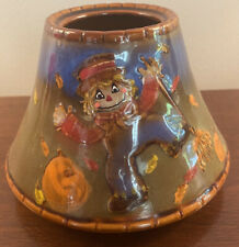 Yankee Candle Jar Candle Ceramic Topper Shade Autumn Fall Harvest Scarecrow