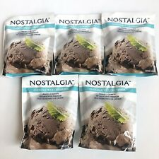 Nostalgia Chocolate Ice Cream Mix 8 oz, 5 Packs Per Lot Brand New 12/18/2020