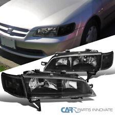 Fit Honda 94-97 Accord JDM Head Lights w/ Corner Turn Signal Lamps Pair Black