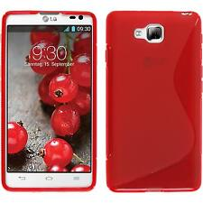 Silicone Case for LG Optimus L9 II S-Style red + protective foils