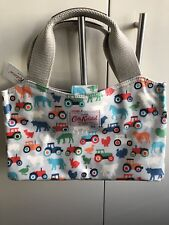 CATH KIDSTON SMALL OIL CLOTH CANVA BAG FARMYARD ANIMALS GREY TOTE NEW WITH TAG