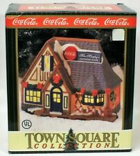 Nib Nos 1997 Coca Cola Town Square Mrs Murphy'S Chowder House Porcelain Lighted
