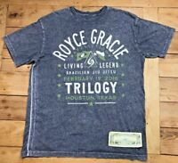 Affliction Royce Gracie Trilogy MMA T-Shirt Gray Short Sleeve Men's 2XL Rare HTF