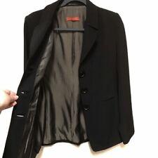 Vintage Black Patrizia Luca 100% Wool Blazer Made in Italy SIZE 6