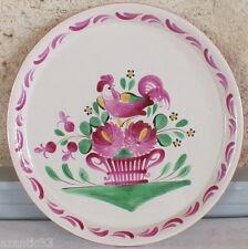 plat tarte faience Saint Clément décor coq ceramic cake pie dish
