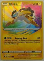 AMAZING RARE Raikou HOLO FOIL Pokemon Shield Sword Vivid Voltage 050/185 - NM