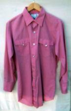 H BAR C - Men's Pink WESTERN Shirt L/S Pearl Snaps - Size 15-1/2 32
