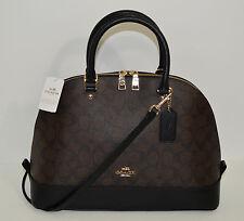 Coach Signature Sierra Brown/Black Satchel/Handbag/Crossbody F37233 NWT