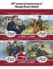 Sierra Leone 2018 MNH Mustafa Kemal Ataturk 4v M/S Gallipoli Military Stamps