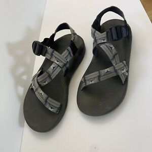 chaco mens 12 sandals Blue Gray Dirty Small Stain See Pictures