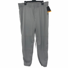 Wilson Mens Gray High Rise Light Wash Designer Baseball Pants XL