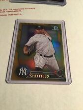 2016 Bowman Chrome Draft Gold Justus Sheffield /50 New York Yankees