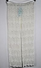 Pants Fits M L NWT $38 Beach Swimsuit Cover Up Off White Crochet Stretch J142