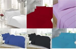 100% Egyptian Cotton 500 THREAD FULL Fitted Sheet Single Double King Super King