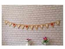 Wedding Renewal Vows Bunting Hessian Banner Vintage Burlap Rustic We💗Do💗Take💗