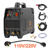 110V 200Amp TIG Welder Regulator IGBT Inverter ARC MMA Stick TIG Welding Machine