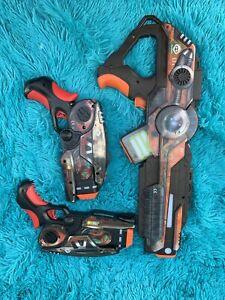 WowWee Light Strike Laser Tag Lot of 3 Guns - Pistols, Assault Rifles! B5