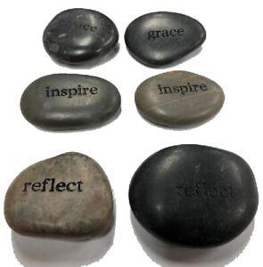 Black River Stones Engraved  Grace, Inspire, Reflect