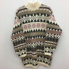 L.L. Bean  Medium Mens Nordic Ski Turtleneck 100% Cotton Sweater USA