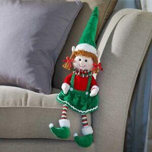 Smart Garden Seated Tinsel Christmas Elf