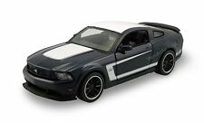 "Maisto 2012 Ford Mustang Boss 302 1:24 scale 8"" diecast model car Blue M30"