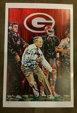 Georgia Bulldogs vince dooley signed 12x18 lithograph 426/600  w/coa