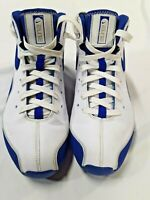 Nike Shox Elite Flight Mens Shoes Size 9,(324826-141) White & Blue Basketball