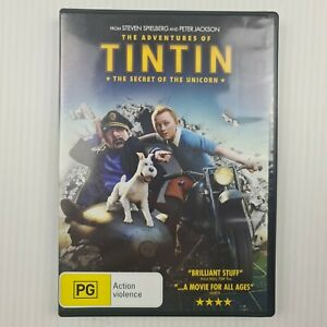 The Adventures of Tintin The Secret of the Unicorn DVD R4 - TRACKED POST