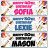 2 personalised birthday banner champagne party 18th 21st 30th 40th 50th deco