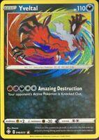 AMAZING RARE Yveltal Pokemon 046/072 Shining Fates 46/72 Textured Holo Foil LP