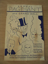 RARE 1933 Program~Annual PAGEANT and BALL~San Francisco POLICE~Widow/Orphans AID