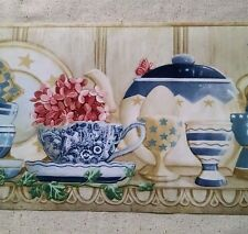2-Country Shelf -Cups, Plates, Teapots,Ivy Wallpaper Border - CP033121B-10 Yards