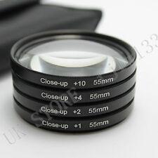55mm Close Up Macro +1 +2 +4 +10 Lens Filter Kit for Sony Alpha DSLR SigmaTamron