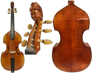 "Baroque Style SONG Maestro 6 strings 27"" viola da gamba,carving woman scroll"