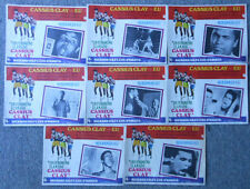 FULL SET of 8 Spanish A.k.a. Cassius Clay MUHAMMAD ALI movie Lobby Cards, 12x17