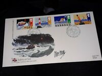 1985 SAFETY AT SEA LIFEBOAT SIGNED  GB FDC COVER bx7