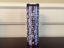 2017 Starbucks Cherry Blossom Stainless Steel Travel Mug Purple Floral Tumbler