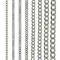 STERLING SILVER CURB CHAIN 16 18 20 22 24 ROPE POW BELCHER TRACE D/C SOLID LINK