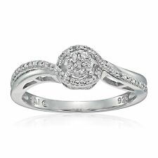 1/10 ct Diamond Engagement Ring in Sterling Silver