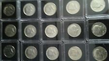Kennedy 40% Silver Half Dollars 1965 to 1969 Lot of 15 BU.