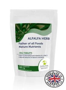 Alfalfa Herb 500mg Veg Tablets Supplements Pills