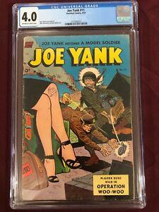 JOE YANK 11 CGC 4.0 VG Ross Andru 1953