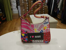 I Love Boys Handbag NWOT Multi Colour Mini Handbag Heart/Leopard Print