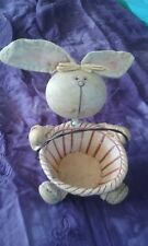 easter bunny rabbit basket country style eggs c