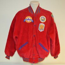 NCA Performance Cheer Jacket Adult XL w 4 PATCHES COTTON ALOHA BOWL MACY'S 90's