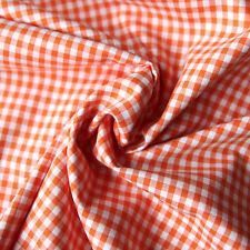 Baumwollstoff Check Karo Vichy Orange Weiß 5mm Groß Stoffe Kariert