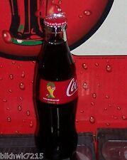 2014 FIFA WORLD CUP SOCCER BRASIL  8 OUNCE COCA - COLA GLASS BOTTLE