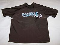 Wavezone Boys Brown Printed Rash Vest Size 4 New